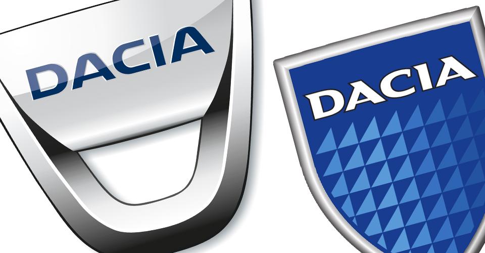 Altes und neues Dacia Logo im Vergleich