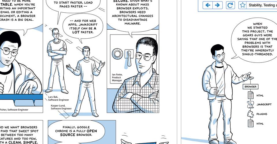 Google Chrome Beschreibung in Comicform