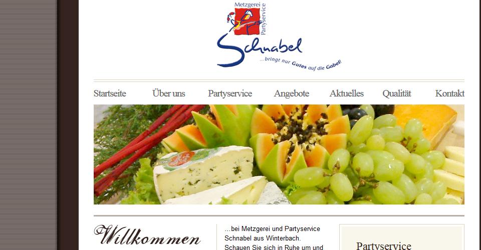 Neugestaltung der Webseite von Metzgerei Schnabel in Winterbach