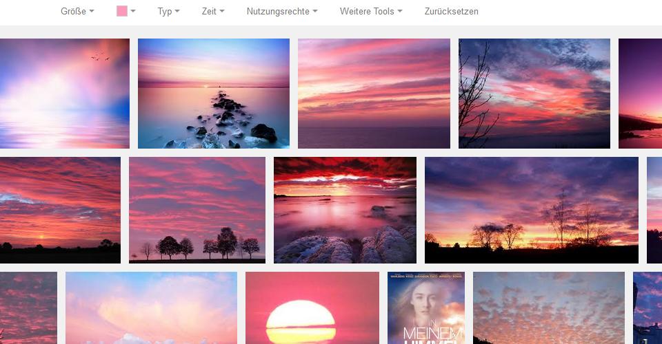 Google sucht Bilder anhand ihrer Farbe