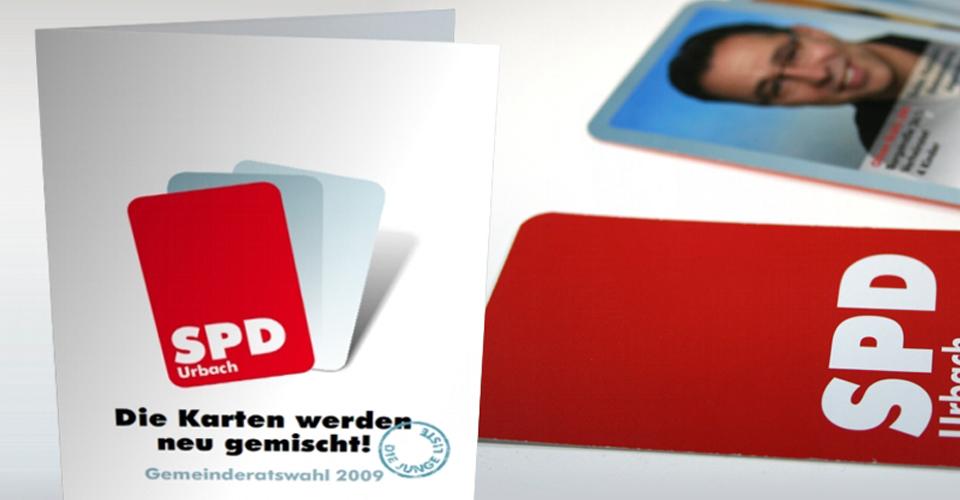 Flyer und Visitenkarten zur Gemeinderatswahl in Urbach