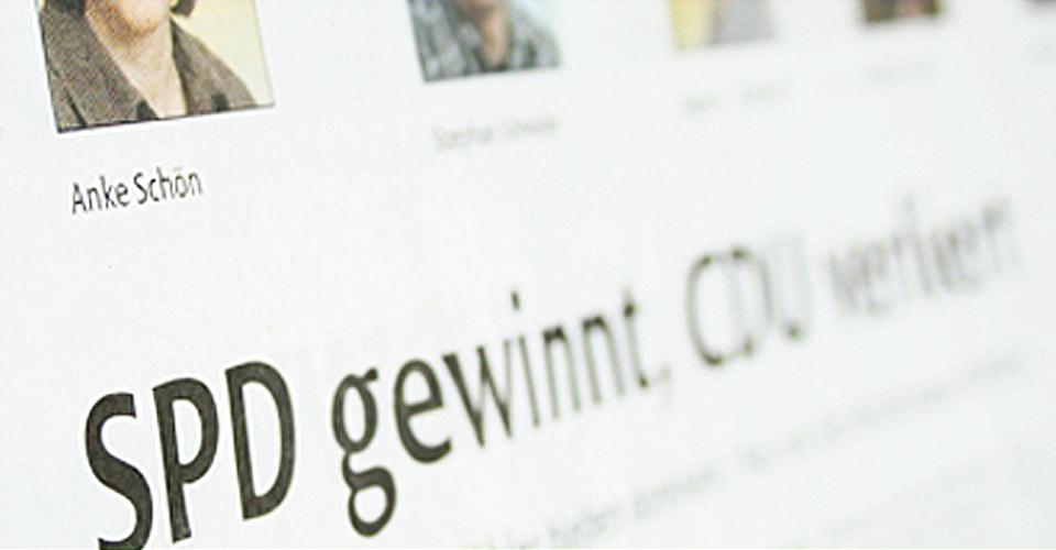 Zeitungsanzeige mit gutem Ausgang für die SPD Urbach