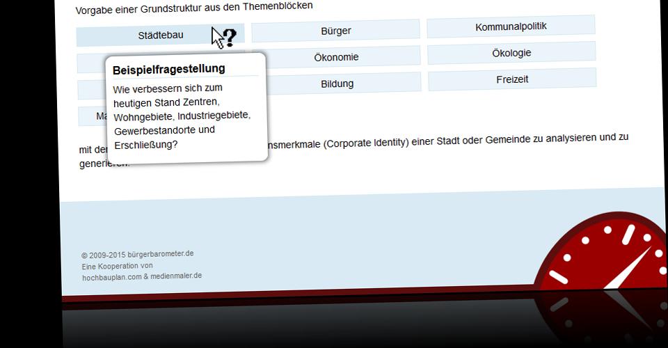 Webseite von bürgerbarometer.de