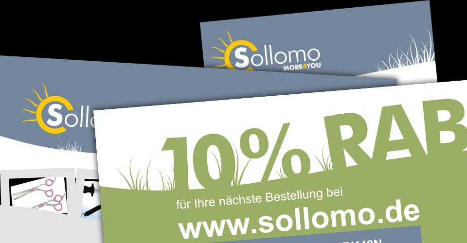 Flyer Visitenkarte für sollomo.de