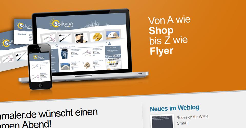 Webseite medienmaler.de in neuem Design