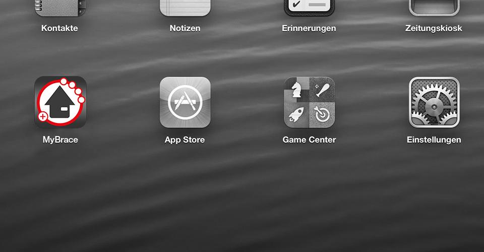 HomeBrace App Icon auf dem iPad