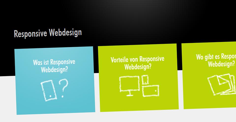 Responsive Webdesign Infoseite von medienmaler.de