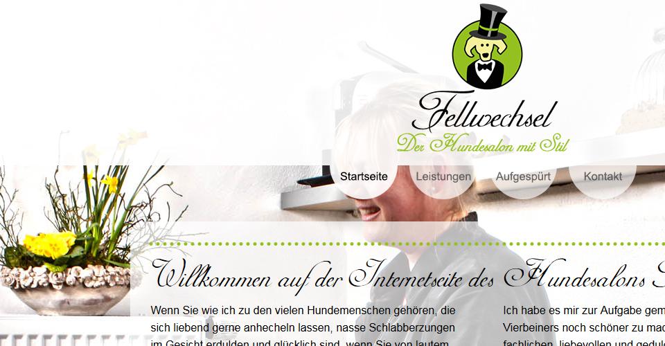 Webseite des Hundesalons Fellwechsel